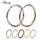 20g Seamless Nose Hoops Tragus Cartilage Piercing Anodized Endless 1/4 5/16 3/8 image