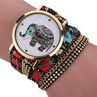 Women Girl Rhinestone Elephant Pattern Quartz Bracelet Wrist Watch image
