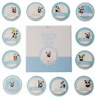Baby Memory Book - 46 pages & 12 design Monthly Stickers Baby First Year