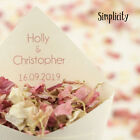 Handcrafted Personalised Wedding Confetti Cones - Regular or Large - Recycled