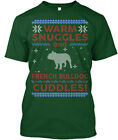 Unique French Bulldog Ugly Christmas Sweater - Warm Hanes Tagless Tee T-Shirt