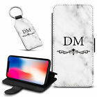 Marble Personalised PU Leather Wallet Case & Keyring For Various Mobiles - 26