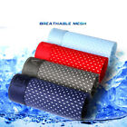 Mens Mesh Breathable Underwear Casual Ice Silk Thin Solid Color Sexy Boxers - Re
