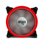 1/2/4 PCS LED 140mm PC CPU Computer Cooling Ring Quite Clear Case Fan Mod 4 Pin