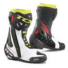 TCX RT Race Boots White Red Fluo Yellow Motorcycle Boots New RRP £239.99!!