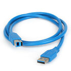 High Speed USB 3.0 to AM-BM Adapter Fast Charging Data Cable 5 Gbps Printer 6 ft