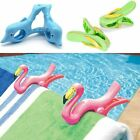 Set of 2 Plastic Sun Lounger Beach Towel Wind Clips Sunbed Pegs Pool Towel Clips