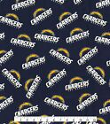 Los Angeles Chargers Fabric by the Yard or Half Yard, NFL Cotton Fabric, NFL Fab $9.95 USD on eBay