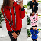 Womens Ladies Sweatshirts Hoodies Casual Jumper Blouse Baggy Oversize Outfit Top