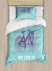 Ride Quote Duvet Cover Set Twin Queen King Sizes with Pillow Shams