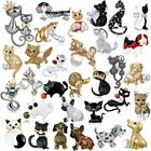 Fashion Women Animals Cat Dog Puppy Crystal Brooch Pin Charm Cute Party Jewelry image