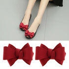 2x Fashion Ribbon Bow Bowknot Shoe Clips Charms Buckle Removable Decoration