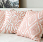 Pink Series Decorative Pillows Cushion Cover Home Decor Embroidery Cushion Cover