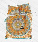 Throw Mandala Duvet Cover Queen/Twin Quilt Cover Bedding Set With 2 Pillow Cover