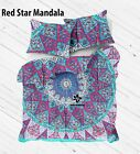 Mandala Print Duvet Cover Queen/Twin Quilt Cover Bedding Set With 2 Pillow Cover