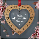 PERSONALISED Christmas Couple Bauble Gifts for Her Him Girlfriend Boyfriend Wife