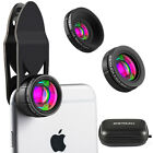 3 in1 Clip Mobile Phone 0.65x Wide Angle+15x Macro Camera+230° Fish Eye Lens Kit