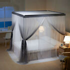 luxury mosquito net double layers netting for bed canopy stainless steel frames image