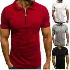 Men's Slim Fit Polo Shirt Short Sleeve Casual Solid Color Golf T-Shirt Tops Tee image