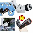 8X Zoom Optical Telephoto Camera Clip On Telescope Lens For Mobile SmartPhone ES