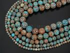 Natural Calsilca Jasper Gemstone Round Spacer Beads 15.5'' 4mm 6mm 8mm 10mm 12mm
