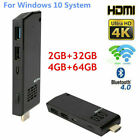 For Intel atom Z8350 Quad-Core 4K 4 64G Mini PC Computer Stick WiFi Dongle HDMI