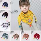 Внешний вид - Baby Triangle Scarf Lattice Autumn Winter Cotton Cute Collar Scarf Warm Pompom