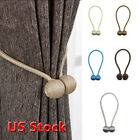 New Ball Magnetic Curtain Buckle Holder Tieback Clips Home Window Accessories US