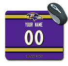 NFL Baltimore Ravens Personalized Name/Number Mouse Pad 150519 $14.99 USD on eBay
