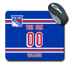 NHL New York rangers Personalized Name/Number Mouse Pad 162603 $12.99 USD on eBay