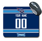 NFL Tennessee Titans Personalized Name/Number Mouse Pad 151205 $14.99 USD on eBay