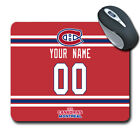 NHL Montreal Canadiens Personalized Name/Number Mouse Pad 161005 $14.99 USD on eBay