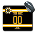 NHL Boston Bruins Personalized Name/Number Mouse Pad 162509 $14.99 USD on eBay