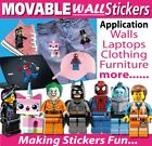 Reusable Wall Stickers Heaps Of Characters Kids Room Nursery Decorations $3.35 AUD on eBay