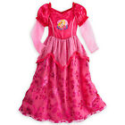 NWT Disney Store Princess AURORA ROSE Deluxe NightGown 9/10 Costume Girls