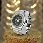 Women Men Dial Quartz Analog Watch Creative Steel Quartz Finger Ring Wrist Watch