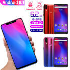 """Full Screen 6.2"""" 4G+64G Android 8.1 Recognition Dual SIM 8MP+16MP Camera Phone"""