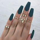Women's Fashion Jewelry Silver Or Gold 5 Ring Set Bohemian Knuckle Ring 77-3