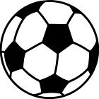 Soccer Ball Vinyl Sticker Decal Sports - Choose Size & Color