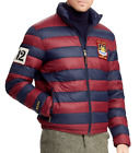 Polo Ralph Lauren Men Stadium 12 Patched Royal Preppy Rugby Varsity Down Jacket