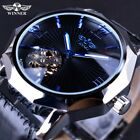 Mens Automatic Mechanical Waterproof Luminous Leather Strap Sports Wrist Watches