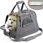 Pet Carrier Soft Sided Cat & Small Dog Comfort Travel Tote Bag Airline Approved