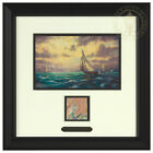 Thomas Kinkade 14.25&quot; x 14.25&quot; Master Palette Edition Framed Print <br/> Includes paint pallet swatch used by Thomas Kinkade