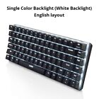 Ajazz AK33 82 keys mechanical keyboard English layout gaming keyboard RGB Light