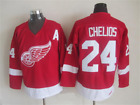 NWT Detroit Red Wings 24 Chris Chelios Hockey Jersey CCM Vintage Throwback M 3XL