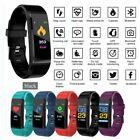 IP67 Heart Rate ID115 Plus Top Smart Watch Monitor Pedometer Fitness Tracker iOS