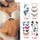 Lot 3D Women Temporary Tattoo Sticker Body Chest Waist Art Decor Waterproof HOT $3.1 USD on eBay