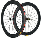 60mm Clincher Carbon Wheels Wheelset 23mm Width UD/3K Shimano/Campagnolo Racing