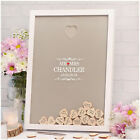 Alternative Wood Wedding Guest Book PERSONALISED Wedding Advice Message Drop Box