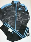 New Boys Adidas 2PC Tricot Jacket  Pants Outfit Set Size 4 5 6 7 7X